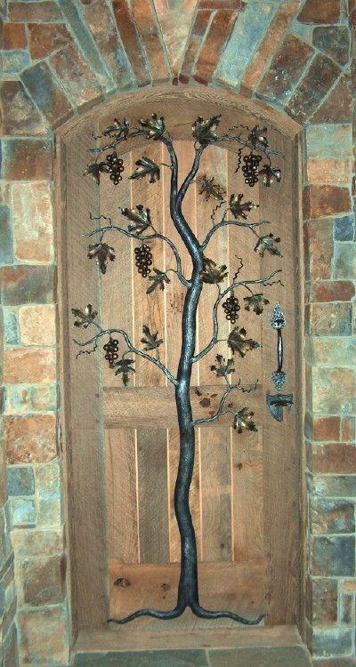 wine cellar door...what a wonderful design! by jeannie