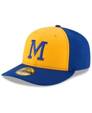 New Era Milwaukee Brewers 2016 Turn Back The Clock Low Profile 59FIFTY Cap - Gold 7 3/8
