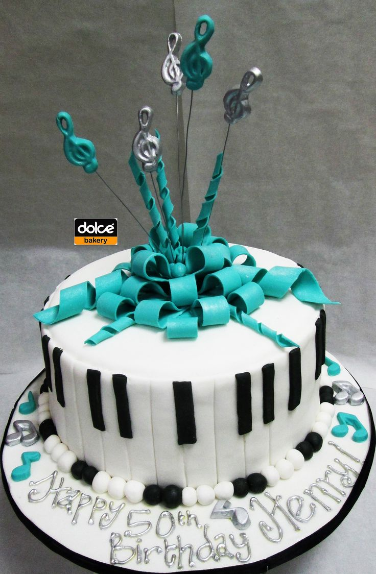 This was a music themed birthday cake for a musician... The sides were made to look like a piano. :-)