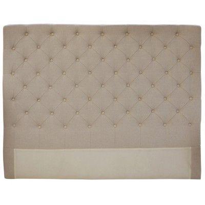 Natural Linen Bedhead, King