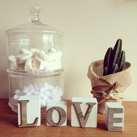 Cubos letras madera LOVE - Oui Oui