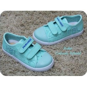 bb34c3365 Zapatos niña Loneta verde agua Pablosky