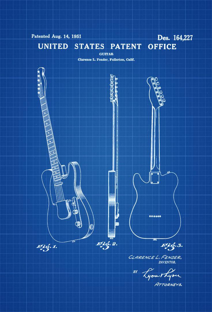 Fender guitar patent, 1951