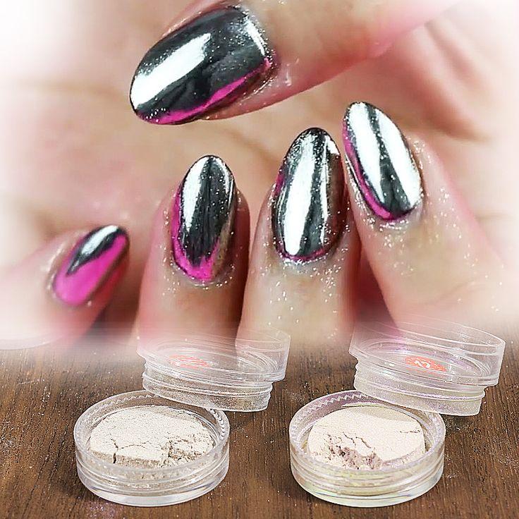 1 g/doos 12 kleur Sliver Nail Glitter Poeder Shining Spiegel Oogschaduw Make Ultrafijne Poeder Stof Nail Art Aluminium Poeder