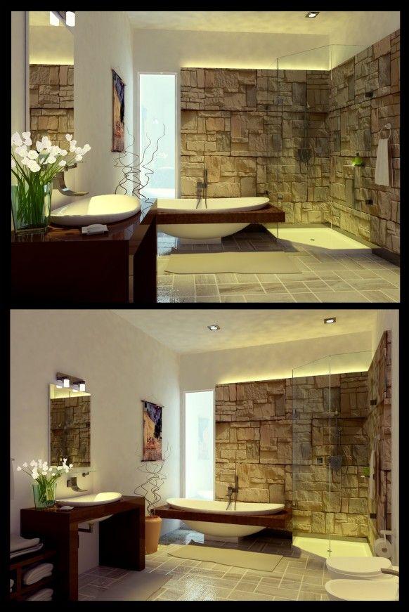 Salle de bain revetements tout pierre
