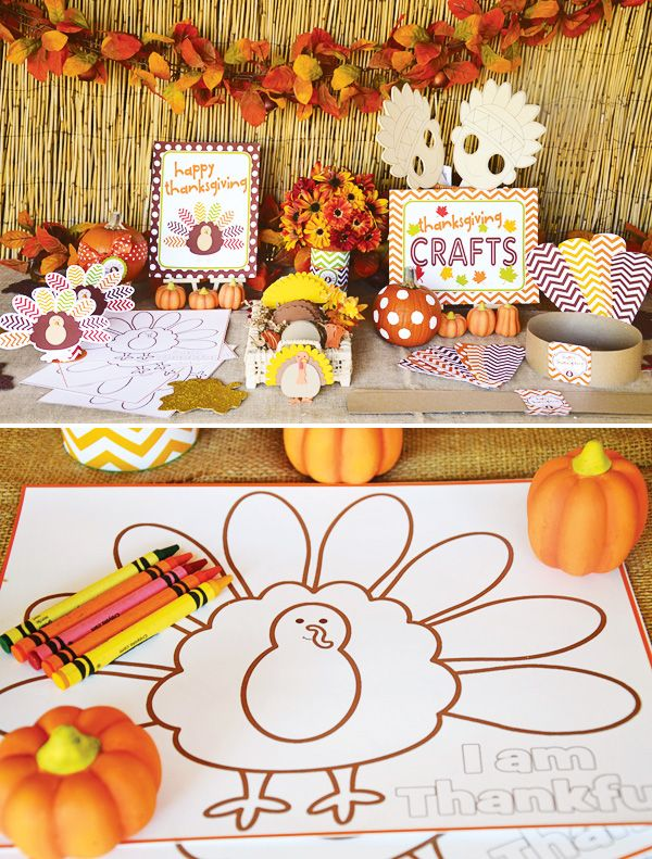 Thanksgiving-kids-craft-table