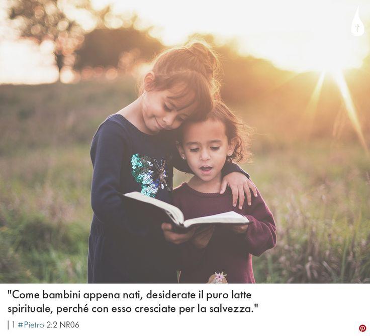 """""""Come bambini appena nati, desiderate il puro latte spirituale, perché con esso cresciate per la salvezza.""""   1 #Pietro 2:2 NR06 #Bibbia #HolyBible #Bible #Biblia #Bambini #Bambino #Child #Children #BibleVerse #BibleVerses"""