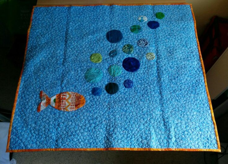 My version of the Modern Baby Bubbles quilt