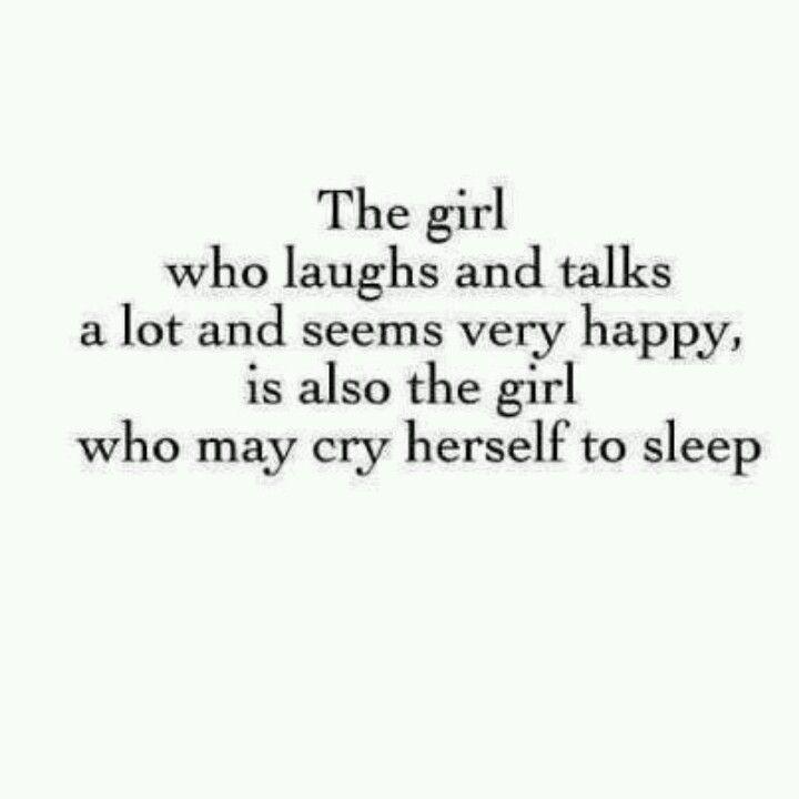 Crys herself to sleep
