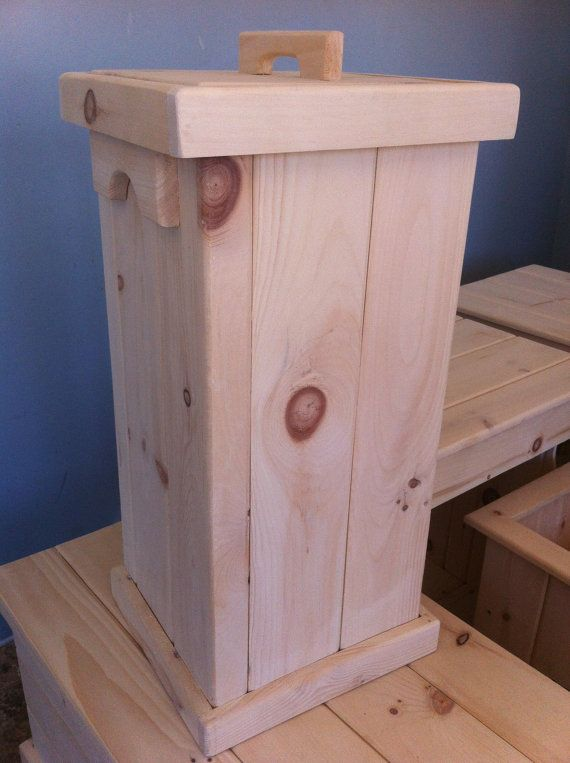 Garbage Bin Recycle Bin DOGCAT or Bird by CanadianWoodenCrafts