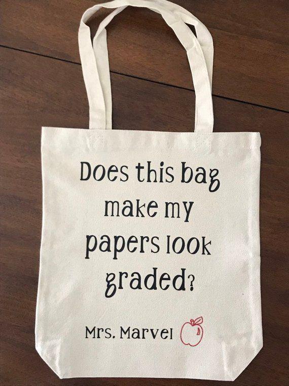 Personalised Teachers Gift Female Superheroes Tote Bag Personal Message