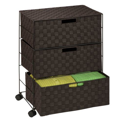Honey Can Do 3 Drawer Chest with Wheels Dimensions: 19.5W x 13D x 26H in.