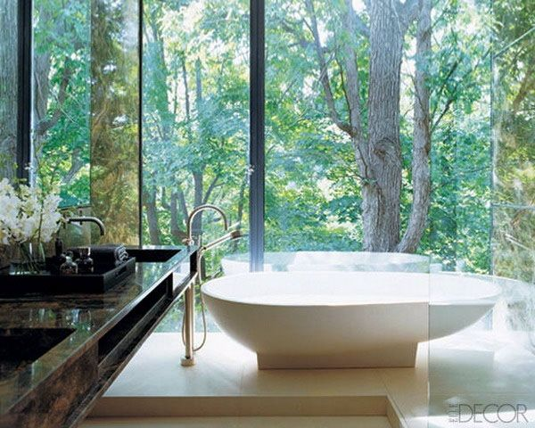 60 Incredible (yet likely highly impractical) bathrooms with breathtaking views via onekindesign.com