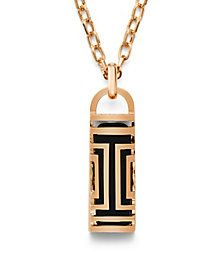 Rose Gold Tory Burch Tory Burch For Fitbit Fret Pendant Necklace