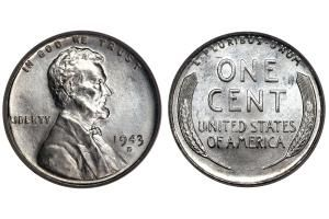 """Can You Guess How Much a 1943 Penny is Worth?: 1943 """"Silver"""" Penny Actually Made out of the Zinc Coated Steel"""