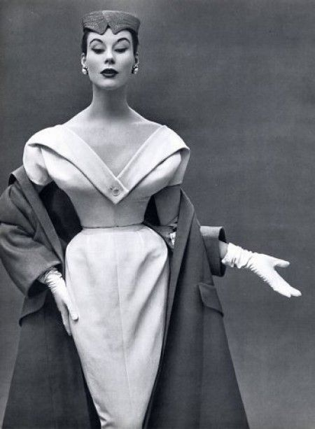 Dinner dress and coat by Christian Dior, 1953