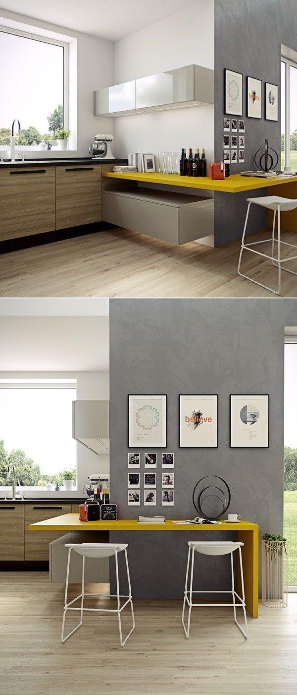1000 idées sur le thème comptoirs de cuisine gris sur pinterest ...