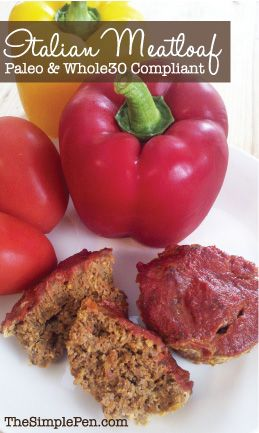 Italian Meatloaf {Paleo & Whole30 Compliant} | TheSimplePen.com