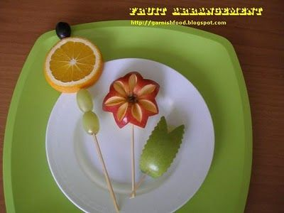 Easy Fruit Carving Ideas 23 best Easy Food Garn...