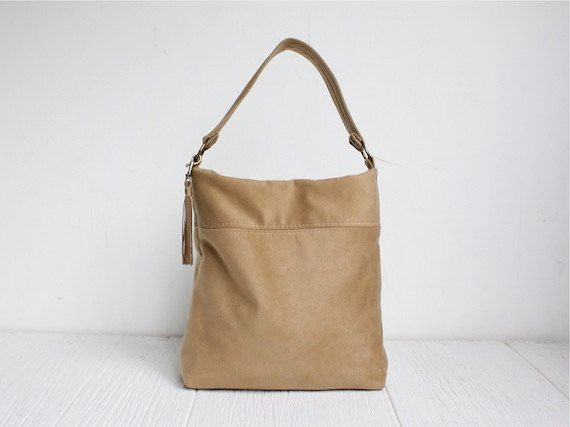 Tote Bag, Vegan Tote Bag, Hobo Bag, Camel Tote, Carry All Tote, Vegan Hobo, Sample Sale 30% Off