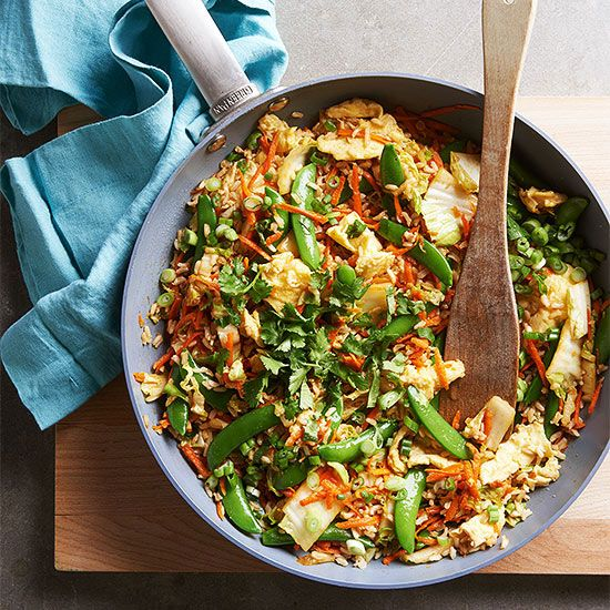 Make your favorite Asian dish on the cheap and in less than 30 minutes with this easy (and healthy!) fried rice recipe: http://www.bhg.com/recipes/dinner/family-style-food/?socsrc=bhgpin092914spicyvegetablefriedrice&page=2