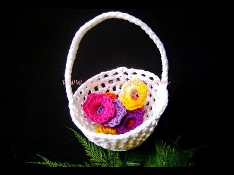Imã / Lembrancinha de Nascimento em Croche - Mini Chapéu - Aprendendo Crochê - YouTube
