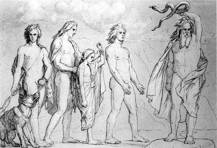 "Lorenz Frølich - ""Odin bannit les enfants de Loki"" (1906)."