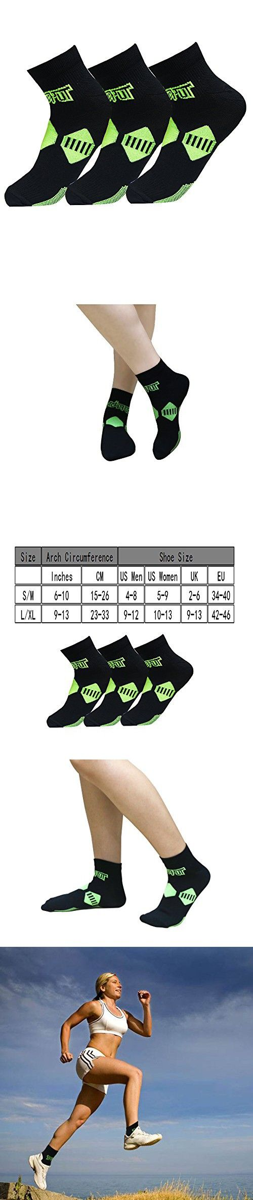 Plantar Fasciitis Socks with Arch & Ankle Support,(3 Pairs) Best Foot Care Compression Sock Brace Support, Eases Swelling & Heel Spurs, Relieve Pain Fast Increases Circulation (S/M, Black)
