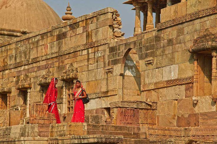 Exploring the ruins in Champaner