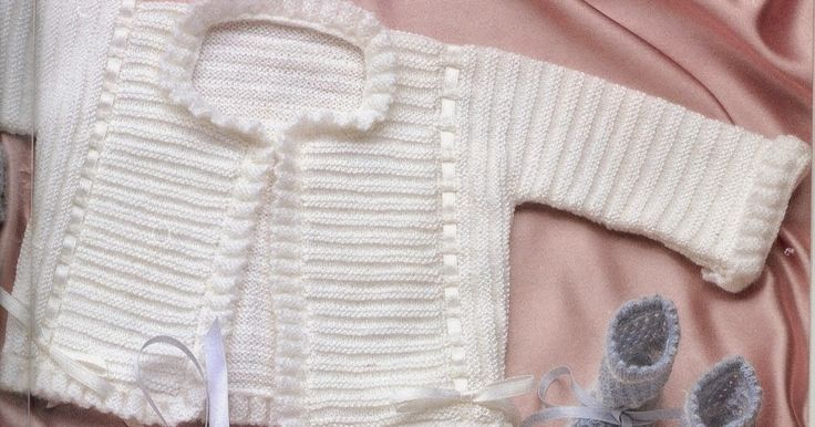 Receitas de tricô: Casaco e camisola de bebé