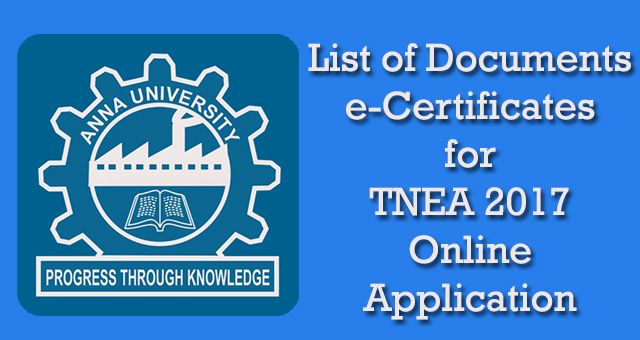 #TNEA2017 #OnlineApplication #Documents #eCertificates http://tnea2017.com/documents-certificates-tnea-2017-online-application/
