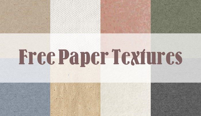 8 Free Paper texture packs