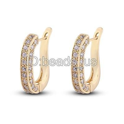 Gorgeous Wedding Jewelry Cubic Zirconia 18K Gold Plated Earring 4mm