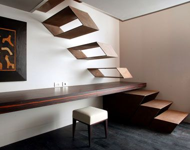 Optical illusions can be made out from staircases