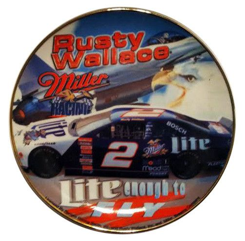 NASCAR legend Rusty Wallace Miller Lite Collectible Plate