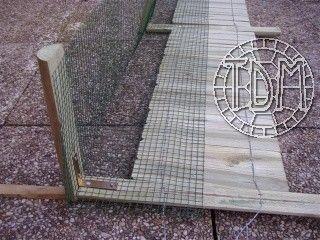 Exemple d'enclos pour tortues adultes
