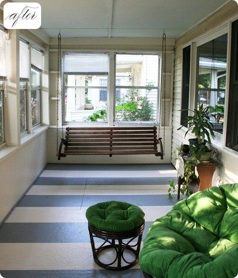 Stripes: Idea, Inspiration, Sunrooms, Sun Room, Painted Floors