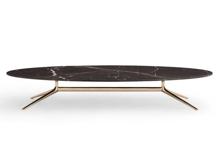 COSMOS Oval coffee table Cosmos Collection by Poliform design Jean-Marie Massaud