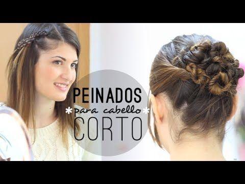 Peinados fáciles para cabello corto. Easy hairstyles for short hair.