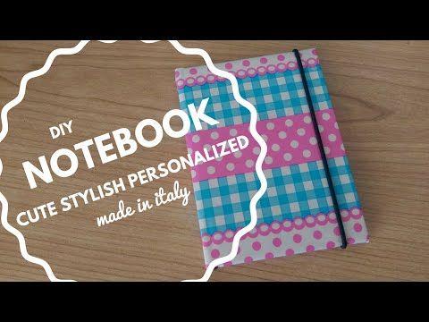DIY Cute and stylish personalized notebook - PART 1 [Fai da te - Agenda personalizzata carina] - YouTube