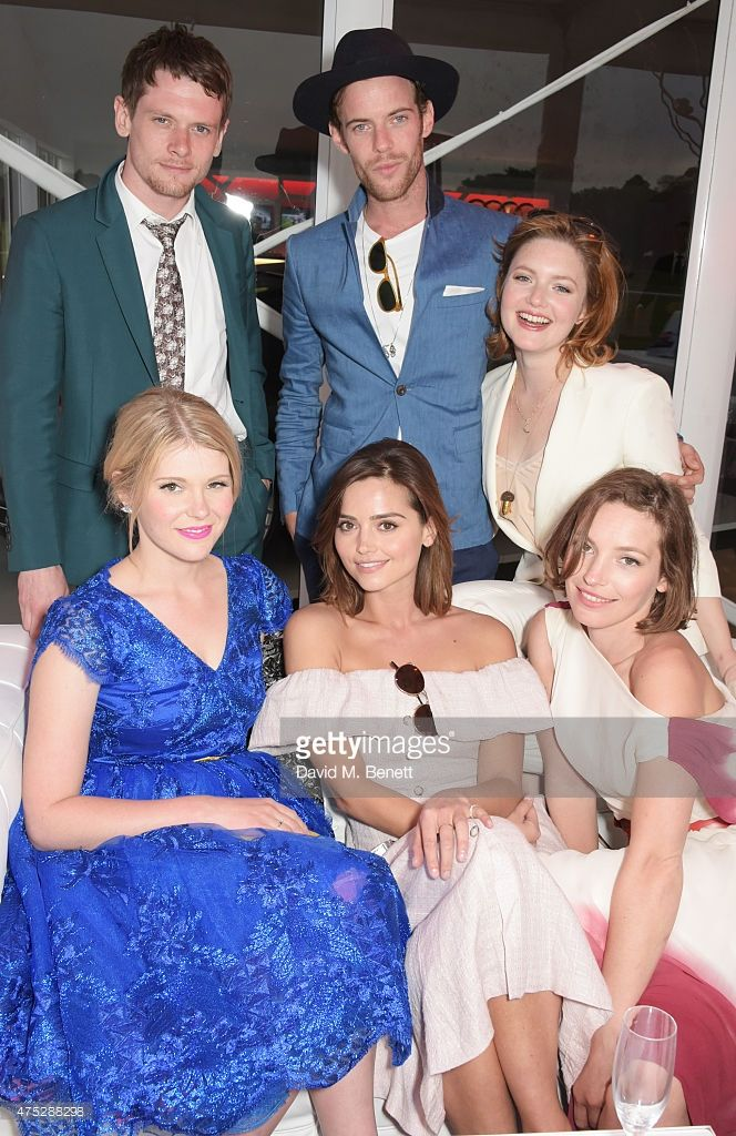 Jack O'Connell, Hannah Arterton, Jenna Coleman, Harry Treadaway, Holliday Grainger and Perdita Weeks attend day one of the Audi Polo Challenge at Coworth Park on May 30, 2015 in London, England.