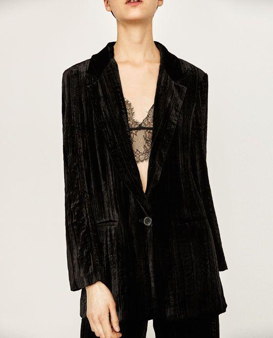 Image 2 of VELVET JACKET from Zara