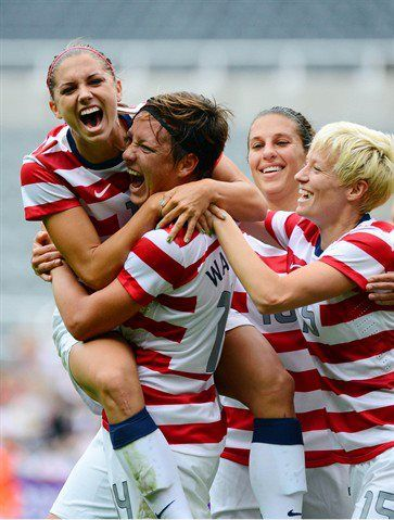 Alex Morgan, Abby Wambach, Carli Lloyd, Megan Rapinoe. (Alex Morgan/Facebook)