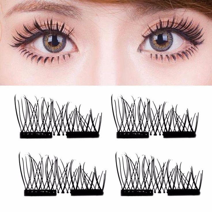4Pcs Magnetic False Eyelashes