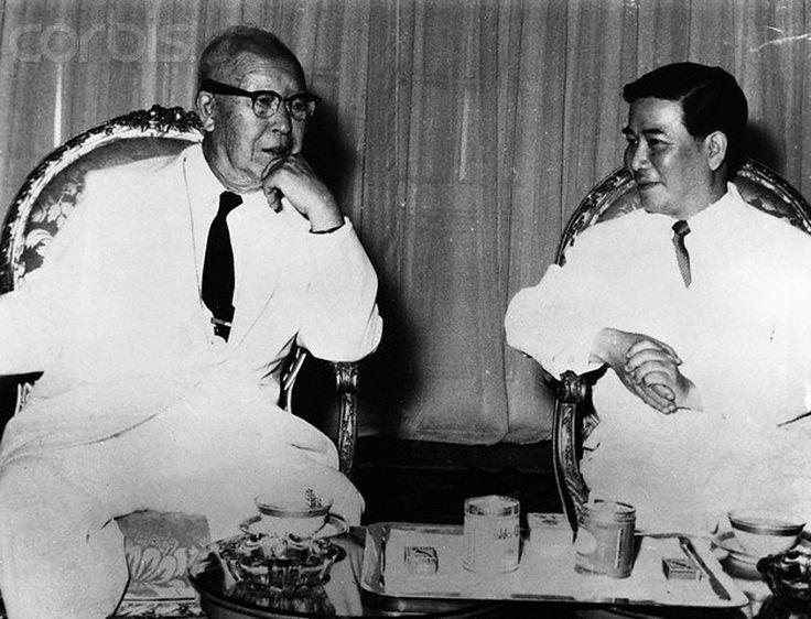 TT Diệm tiếp TT Hàn Quốc Syngman Rhee - 1958   by manhhai
