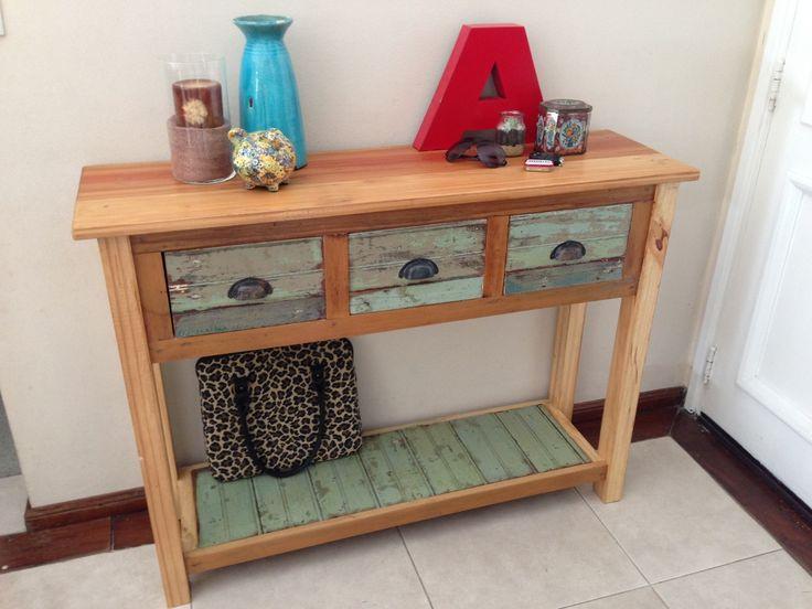 mesa de arrime. isla cocina. cómoda. madera demolición