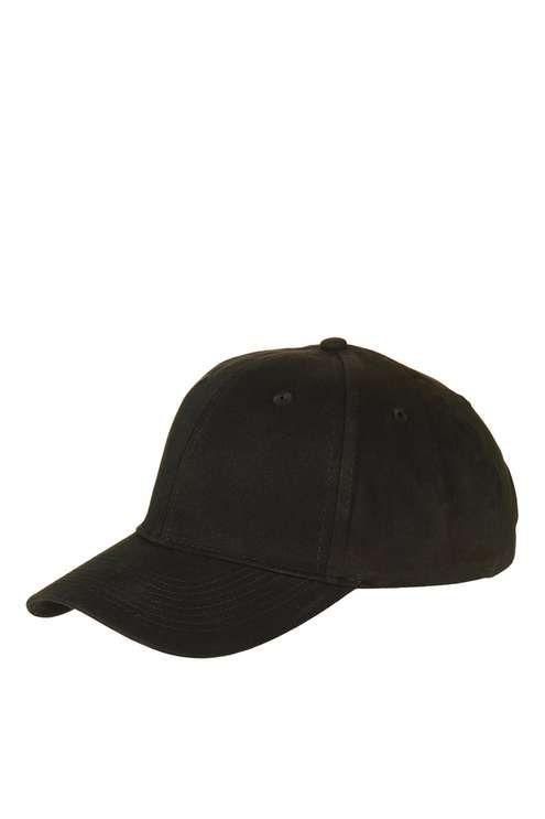 Plain Black Unstructured Cap