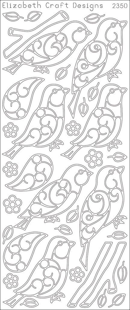 Birds & Branches Peel-Off Stickers-Silver - Harvey & Haley