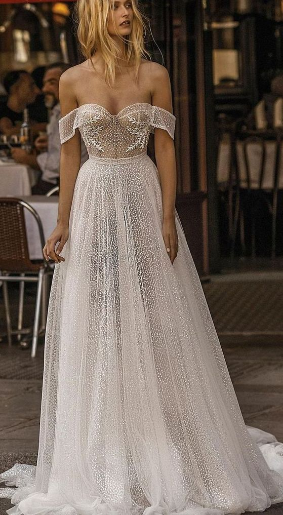 Amazing 40+ Off the Shoulder Wedding Dresses Ideas