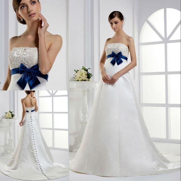Inexpensve chiffon pleated strapless long style bridal wedding ...